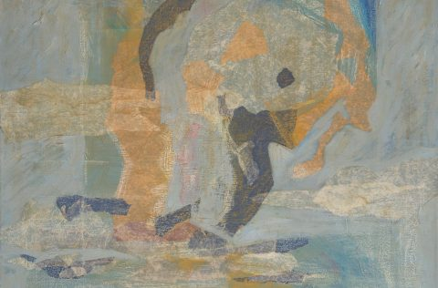 'Escencia' - Óleo y collage 0,60 X 0,60
