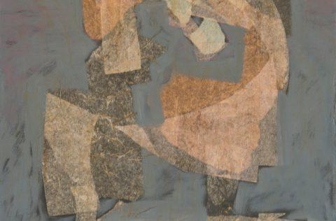 'Hacia adentro' - Óleo y collage 0,60 X 0,50