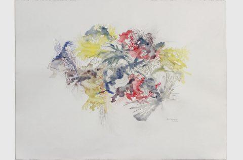 'Otro micromundo' - Acuarela y grafito s/papel 0,60 x 0,80