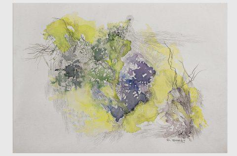 'Mata atlántica' - Tinta y grafito s/tela 0,30 x 0,40