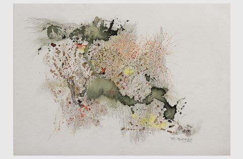 'Partículas' - Tinta y grafito s/tela 0,30 x 0,40