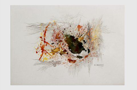'Energia particular' - Tinta y grafito s/tela 0,30 x 0,40